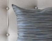 Blue Grey Pillow Cover Stripe Upholstery Decorative Pillow Throw Pillow Cover Euro Sham 26x26 24x24 22x22 20x20 18x18 16x16