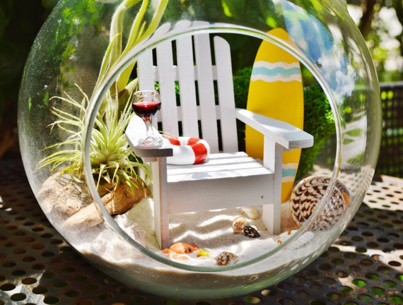 beach surfboard terrarium kit colorful surfboard. Black Bedroom Furniture Sets. Home Design Ideas