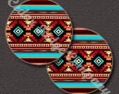 "Native Tribal Design 1"" Cabochon Epoxy Cab Sticker Bottle Cap Beading (34-TBL-066)"