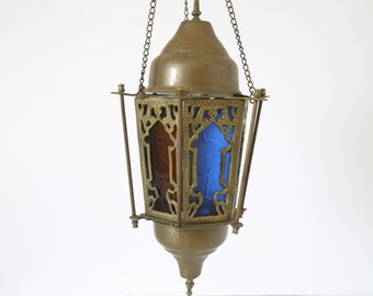 Vintage brass lantern pendant light hanging light Moroccan Pendant Light