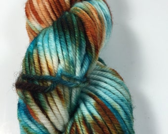 DK Mini, Superwash Merino, 50 grams, Hand Dyed Yarn, Haute Ship Wreck , double knitting, mini skein, dk weight