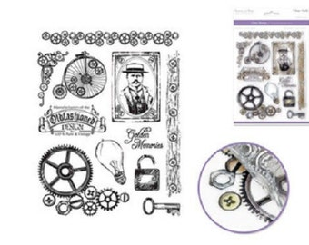 Forever in Time Rubber Stamp Old Fashioned Golden Memories Set