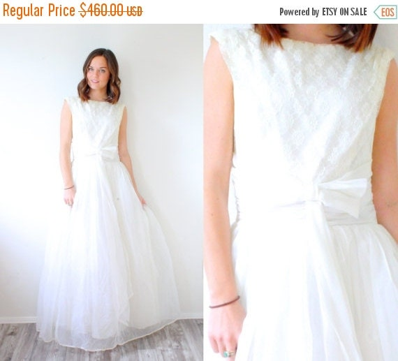 30 Off Sale Vintage 1950 39 S Wedding Dress By Beigevintageco