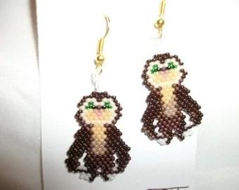 The Croods Guy's Pet Belt Sloth Earrings
