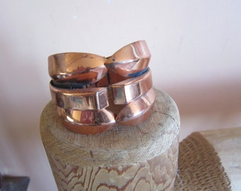 signed renoir copper clamper bracelet, cuff bracelet, copper jewelry