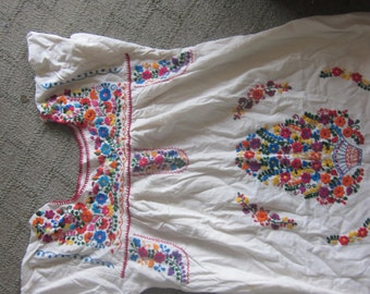 guazey embroidered dress, tunic, hippie dress, cotton,heavily embroidered