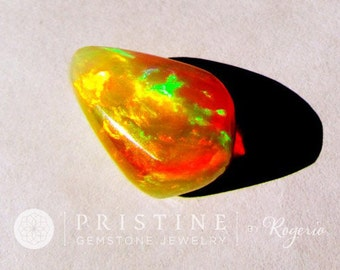 Crystal Opal Fancy Cut 8.5 Carats October Birthstone for Pendant