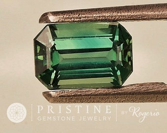 Blue Green Sapphire Emerald Cut Shape September Birthstone Emerald Cut Loose Gemstone for Jewelry Pendant or Ring