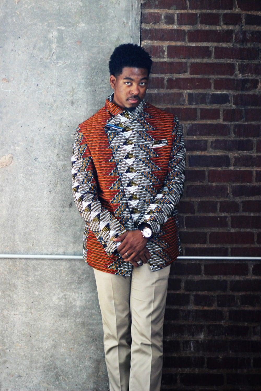 African clothing Ankara Men Blazer African Print Jacket men Ankara Print Men