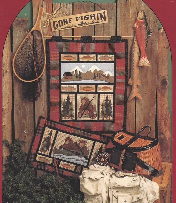 90s Gone Fishin Quilted Wall Hanging Pattern By Calico Garden