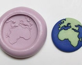 Earth mold #168 - silicone mold, craft mold, porcelain mold, jewelry mold, food mold, pop up mold, clays mold, flexible mold