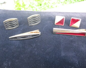 Anson Cufflinks and Tie Bars Two Sets