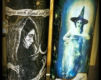 Witch Discovery 7 day candles: Wiccan, wicca, witchcraft, witch, occult, alchemy, vampire, magick