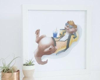 Ferret Print - 9 x 9 Digital Print