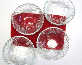 Cut Glass Serving Bowl Dish Serving Set Of Four