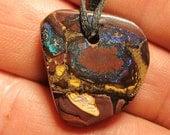 Australian Solid Koroit Boulder Opal Pendant - Bead - 31.0 ct
