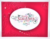 Valentine's Greeting Card, Love, Love You, Hearts, Polka Dots, Red, White, Twine, Valentine's Day, Be Mine, Loved One, Blank Inside