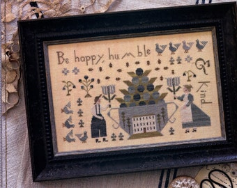 With Thy Needle & Thread: Be Happy, Humble and Kind -  Cross Stitch Pattern