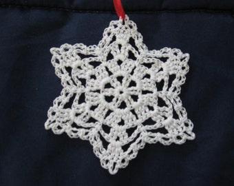 White Lacy Snowflake