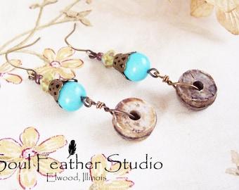 212• BLUE TRIBE Earrings•Earrings•Boho Earrings•Dangle Earrings