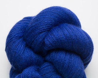 Zaffre Blue Recycled Merino Lace Weight Yarn, 4438 Yards Available