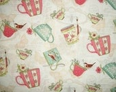 Susan Winget Fabric, Coffee Cups, Fabric By The Yard, Quilting Sewing Fabric, Tea Time Tea Cup Toss Collection, Spring Summer Fabric, Cotton