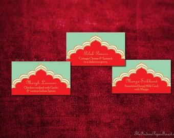 Indian Wedding Buffet Card Food Label Pdf PALACE ROMANCE Table Decor Idea Menu Arab Pakistani Bangladeshi Nepali Turkish Moroccan Asian 2016