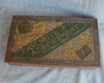 Vintage Nabisco Biscuit Co. Tin Favorite Assortment Cookies