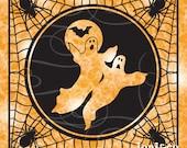 Halloween Glass Block SVG File, Trick or Treat, SVG cut file, Ghosts, Spider Webs