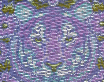 Tula Pink Fabric, Crouching Tiger, Eden Collection,  Amethyst, Free Spirit, By the Yard, Cotton Fabric