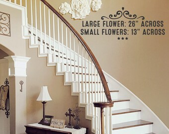 Giant Paper Flowers Wall Decor - Wedding Decor - Home Decor - Nursery Decor - Photo Backdrop
