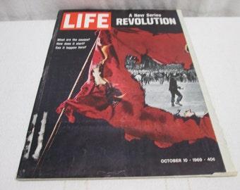 Life Magazine October 1969, Revolution, Chicago 8,  Womens fashion, Ford Mustang, Kodak Cameras  vintage ads