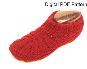 Front Ribbed Slippers PDF Knitting Pattern Knitting Shoes Knitting Socks Is not a finished product  It is a PDF Pattern