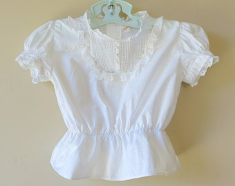 Girls Camisole Blouse Lace Tucks Castro C I 801a