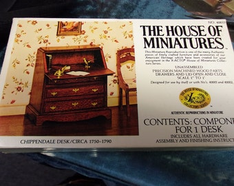 House Of Miniatures Chippendale Desk Kit