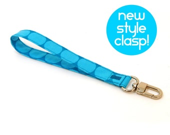 Blue Wrist Strap - Turquoise Key Chain - Purse Wallet Strap - Perfect Key Strap - Key Fob - Teen Valentines Gift - Ready to Ship