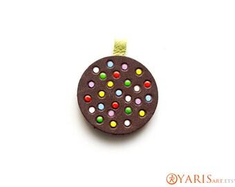 Candy Crush Color Bomb Pendant - Handmade and hand tooled original artwork