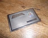 Art Deco 1920s English London Souvenir Card Case Chromium Tobacciana Carte De Visite