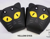 Black Cats Roller Derby skate toe guards in natural leather