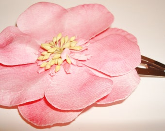Large Pink Flower Clips