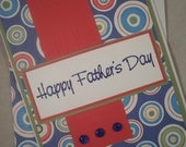 Father's Day Card, Card for Dad, Father's Day, Blank Card, Masculine Card, Circles, Father, Dad, Husband