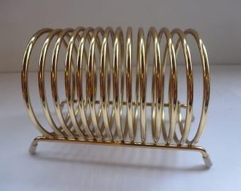 Vintage Memo Holder Brass Memo Holder Organization Desk Accessory