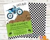 Dirt Bike, Birthday, Party, Invitations, Boys