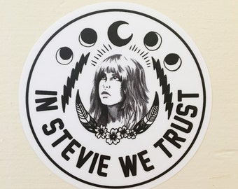 "STEVIE WE TRUST - 4x4"" Vinyl Sticker"