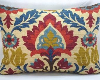 Waverly Santa Maria Gem Lumbar Pillow Decorative Pillow Accent Pillow 13x18 Pillow Cover