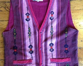 Vintage Hand woven cotton vest
