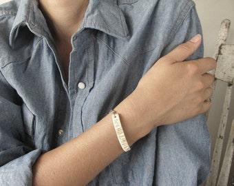 Elk Horn Bracelet -WHISPER- Minimal Bohemian Antler Jewelry