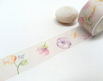 Flower Washi Tape 25mm x 10m