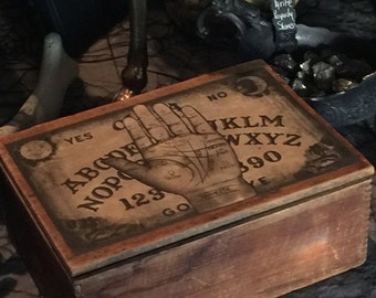 Fortune Teller's Antique Palmistry Box of Treasures at Gothic Rose Antiques