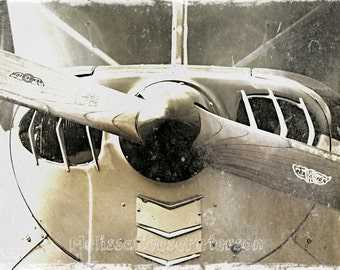 Propeller Aviation Photography Fine Art Print Airplane Distressed Aeronautical Vintage